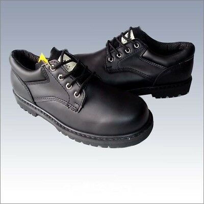 """New Men's """"Kingshow""""  4 Inch  Nubuck Lace Up Low Top Working Boots / Black"""