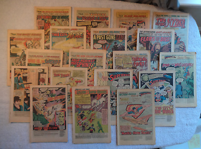 Lot of 37 Coverless Bronze Age 1970's Comic Books: DC, Marvel, Flash, Super, Ant