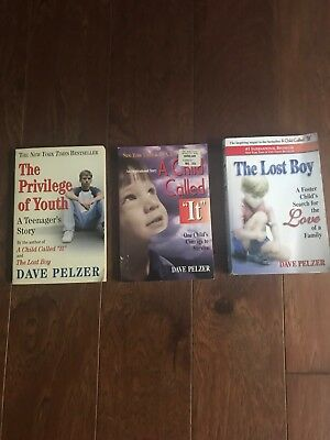 Lot of  3 Dave Pelzer, A Child Called It, The Lost Boy, The Privilege of Youth