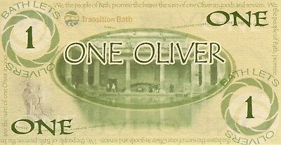 England Bath 1 Oliver - Local UK -Transition Currency- Mint uncirculated