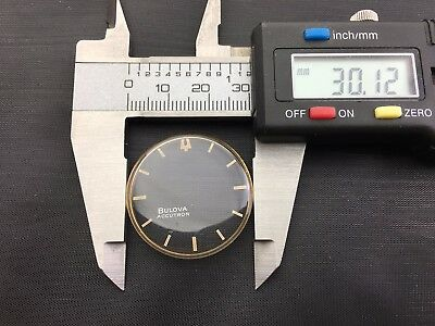 Vintage 30.12mm Accutron Spaceview PINK crystal for parts New old Stock.