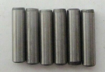 "HARDENED STEEL DOWEL PINS 1/4"" x 1"" - PRECISION GROUND FINISH (PKG OF 6)"