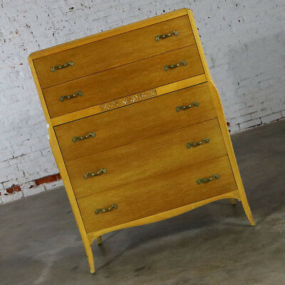 Art Deco Style Tall Chest of Drawers by Rway Northern Furniture Company of Shebo