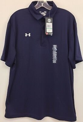 NWT Men's Under Armour Short Sleeve Active Polo, Navy, Size L