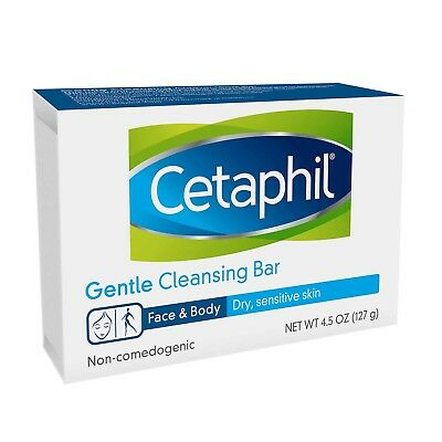 Cetaphil Gentle Cleansing Moisturizes  Bar 6 pack  4.5 oz Each