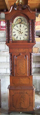 Working Antique Welsh 8 Day Tall Case Clock in Mahogany- Beautiful!