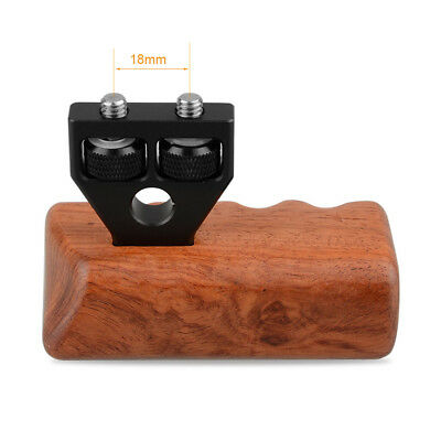 "CAMVATE DSLR Wood Wooden Handle Grip Mount Support 1/4""-20 thread For Cage Rig"
