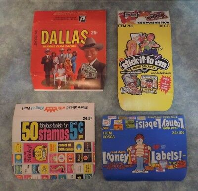 4 Empty Vintage 1960's 1970's 1980's Trading Card Boxes