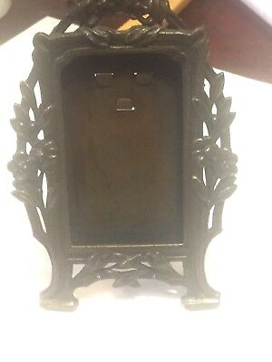 Antique French dore doré ormolu gilt bronze picture frame 4 1/4""