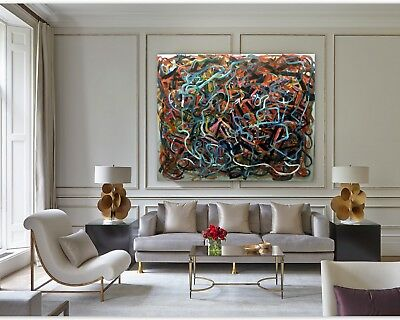 Labyrinth Abstract Original Art Paintings Acrylic Huge 60 inches x 48 by Gerson