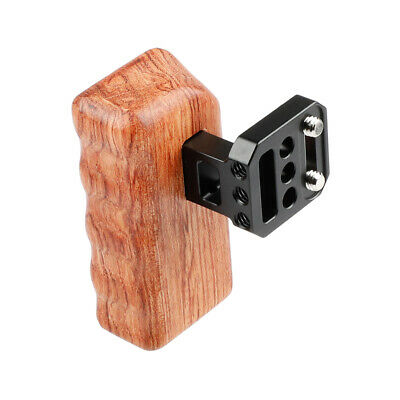 CAMVATE DSLR Camera Wooden Handle Grip Right fr DV Video Cage Stabilizer Red Rig