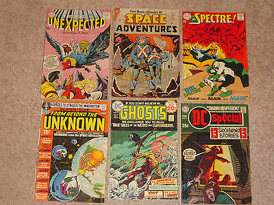 Comics Lot (17) DC Dell Charlton Strange Adventures Flying Saucers Unexpected