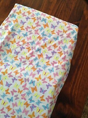 Brand New Hand Made Coloured Butterflies Change Table Cover Mat Nappy Baby