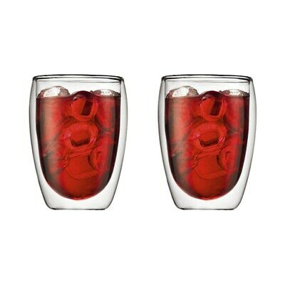 New Bodum Pavina Double Wall Glass 350ml Set of 2