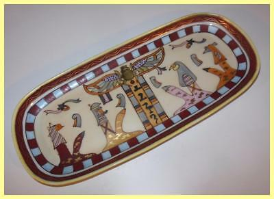 Vintage 1924 Hand Painted Nippon Art Deco Egyptian Revival Porcelain Tray