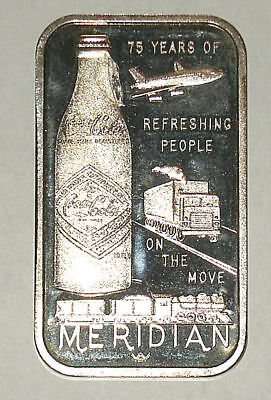 MERIDIAN, MS Coca Cola Silver Ingot One (1) Troy Ounce .999 Pure Silver Gorgeous