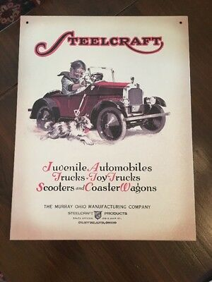 Hallmark Kiddie Car Classics STEELCRAFT VINTAGE AUTOMOBILE SIGN
