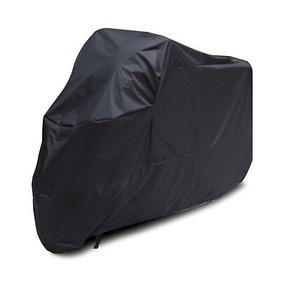 Black Waterproof Motorcycle Motorbike Dust Rain Sun Cover Large also for 3 Bikes
