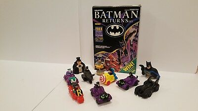 Batman Returns Cereal Box Plus 10 Cars ETC.