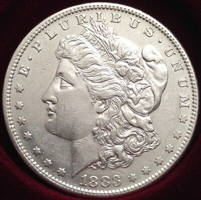 1883-S Morgan Silver Dollar ~ VAM-10 Doubled Date ~ Solid UNC Devices, Rare Key!