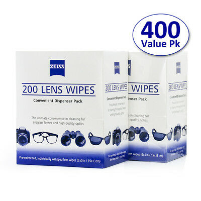 400 Zeiss Pre-Moistened Lens LCD LED Screen Optical Camera Clean Cloth Wipes NEW