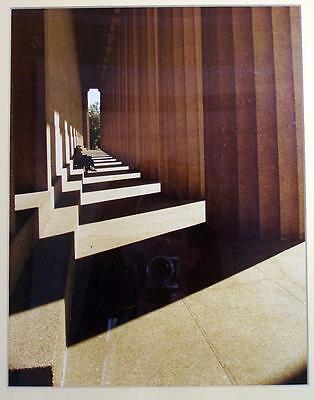 """Large Framed Photograph """"Parthenon Shadows"""" Greece NC Artist Best in Show 1981"""