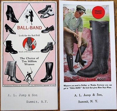 Shoes & Boots 'Ball-Band' Pair 1930s Advertising Blotters