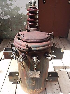 1942 Antique  General Electric Pole Mount Spirakore Transformer Single Phase