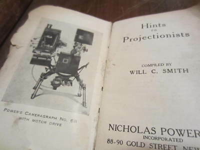 Antique Silent Hand Cranked 35mm Movie Projector book Powers Cameragraph
