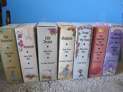 Brand New Lot Of 7  Marie Osmond Fine Porcelain Storybook Dolls: Nrfb