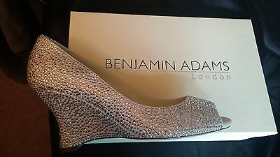 Benjamin Adams Emma Wedge Shoes Fully Cristalized Size 9.5