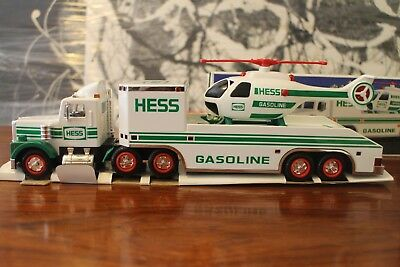 Brand New Vintage 1995 Hess Truck Toy and Helicopter