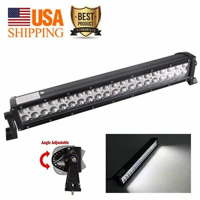 120W LED WORK LIGHT BAR Flood Spot Work Driving Offroad 4WD Truck Atv SUV Car US
