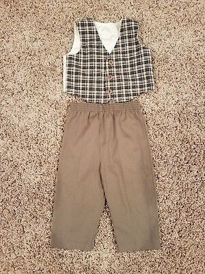Baby/Toddler Boys 2-pc Vest with matching pants Set Dress Clothes Pre owned