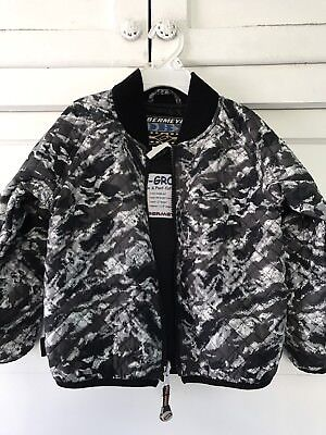 Obermeyer Boys Quilted Black Gray Jacket Size 4 years