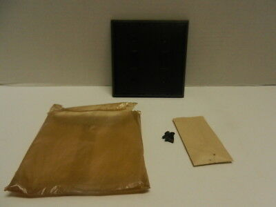 Vtg NOS Deal BAKELITE  2 Gang Double Wall Light Switch Plate Cover Brown