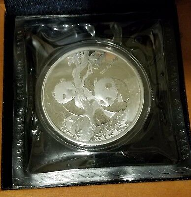 2013 CHINA PANDA MEDAL 1oz SILVER PROOF - WORLD MONEY FAIR in BERLIN   Excellent