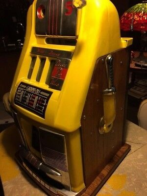 Mills Novelty Five Cent Deuces Wild Hi-Top Slot Machine - Restored!