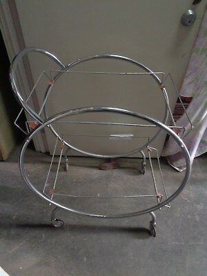 Vintage Steel Drinks Trolley - Art Deco Old Retro Antique Collectable