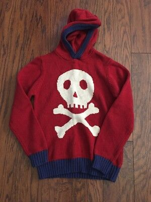 boys size 9-10 Years MINI BODEN - Skull And Cross Bones sweater Excellent Cond
