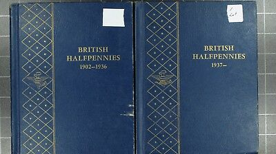 Weeda GB British Halfpennies Deluxe Whitman folders, 1861-1967 copper coins
