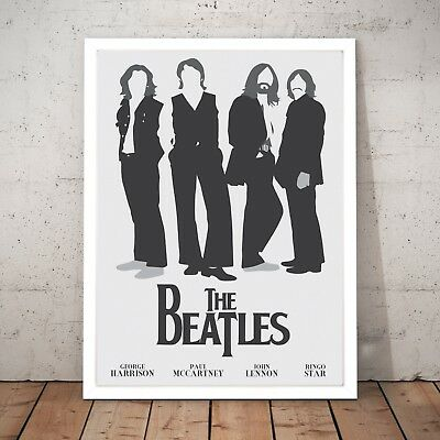 Vintage The Beatles Music Art Poster Print Man Cave - A4 to A0 Framed