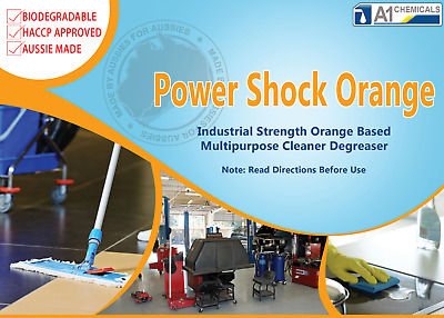 Power Shock Orange Citrus Cleaner/Degreaser Industrial/Home Use Concentrate