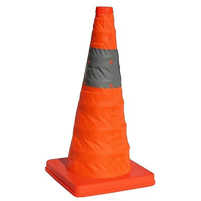 """60 CM 24""""Folding Collapsible Traffic Multi Purpose Pop up Reflective Safety Cone"""
