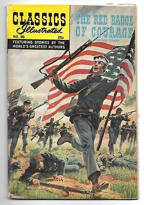 Classics Illustrated #98 Red Badge of Courage (1968) HRN 166 New Cover GD- 1.8