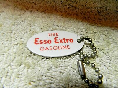 Vintage ESSO EXTRA Gasoline Gas Oil Keychain ESSO Humble Advertising