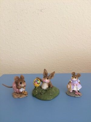 Wee Forest Folk NM-1 Nibble Mouse, B-15 Easter's Hare..., M-255 Hattie