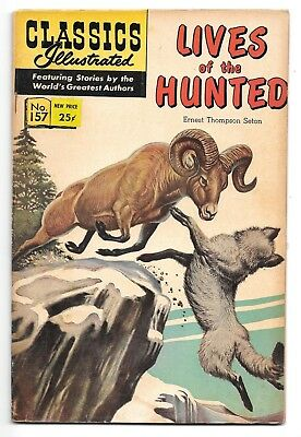 Classics Illustrated #157 Lives of the Hunted (Oct, 1967) HRN 166 GD+ 2.5