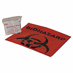FIRST AID ONLY Biohazard Bags,20 gal.,Red, 21-022B1G
