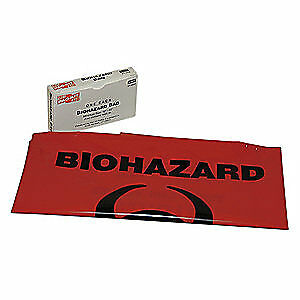 FIRST AID ONLY Biohazard Bags,20 gal.,Red, 21-022G
